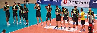 Fenerbahçe Men's Volleyball - October 2010 Fenerbahçe team squad: 12 - Čošković, 13 - Cengizhan, 17 - İsmail Cem, 1 - Burak, 3 - Ersin, 7 - Marshall, 6 - Kemal, 15 - Emre, 16 - Gerić, 18 - Serkan, 10 - Arslan