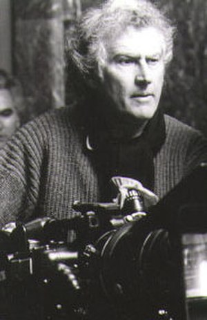 Fernando Solanas - Film maker Fernando Pino Solanas on the set of Tangos: el exilio de Gardel (1985).