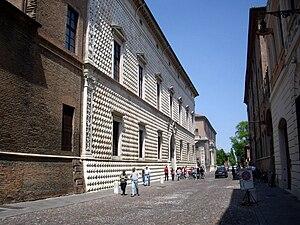 Addizione Erculea - A street near the Palazzo dei Diamanti