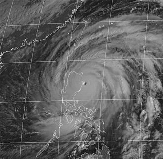 Typhoon Zeb - Another satellite image of Zeb making landfall on Luzon