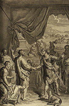 Figures Isaac and Abimelech Swear Friendship
