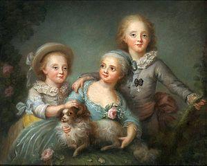 Dzieci hrabiego d'Artois (Charles, Sophie i Louis)