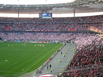 AS Nancy - 40.000 fans of Nancy in Stade de France during the 2006 Coupe de la Ligue finale