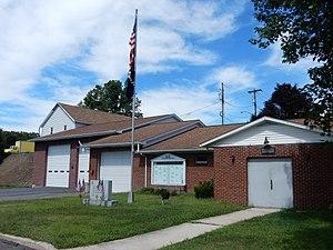 Norwegian Township, Schuylkill County, Pennsylvania - Image: Fire Co & War Memorial, Marlin PA 02