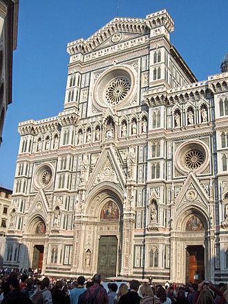 Roman Catholic Archdiocese of Florence - Facade of Basilica di Santa Maria del Fiore