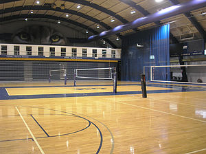 Fitzgerald Field House - Courts inside Fitzgerald Field House