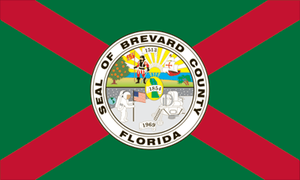Cape Canaveral, Florida - Image: Flag of Brevard County, Florida
