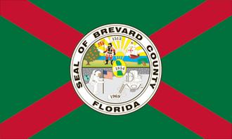 Cape Canaveral, Florida - Image: Flag of Brevard County, Florida