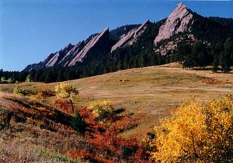Prehistory of Colorado - Image: Flatirons in the Fall