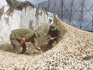 Sar-El - Sar-El volunteers at Israel-Lebanon border