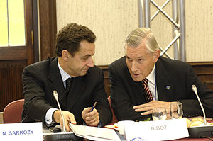 Ben Bot - Ben Bot with then French Minister of the Interior Nicolas Sarkozy in 2006.