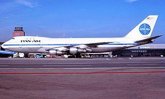 Pan Am Flight 73 - N656PA, plane involved in hijacking, seen in January 1985 at Hamburg Airport