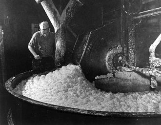 Pulp (paper) - Pulp at a paper mill near Pensacola, 1947