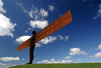 Art of the United Kingdom - The Angel of the North near Gateshead by Antony Gormley, 1998