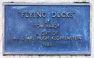 Flying Ducks - Image: Flying Ducks Plaque (38555755862)