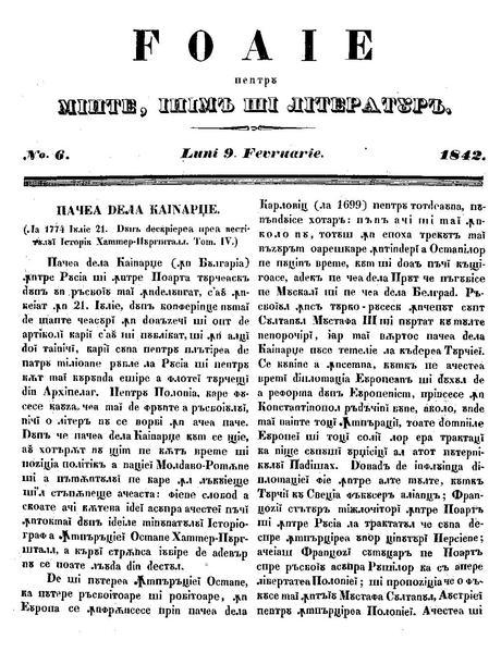 File:Foaie pentru minte, inima si literatura, Nr. 6, Anul 1842.pdf