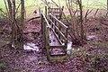 Footbridge near Gribble Bridge Farm - geograph.org.uk - 1618692.jpg
