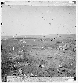 Fort Sanders, Knoxville, Tennessee - Fort Sanders, photographed in 1864