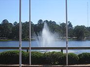 Fountain at Turner's Pond, Minden, LA IMG 2500