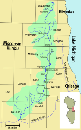The Fox River is a tributary of the Illinois River in the states of