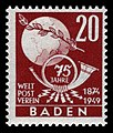 Fr. Zone Baden 1949 56 Weltpostverein.jpg