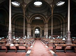 France, Paris II Bibliothèque nationale de France, BnF, Site Richelieu, Salle Labrouste 1854-1875.jpg