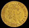 France 1643-A Half Louis d'Or (obv).jpg