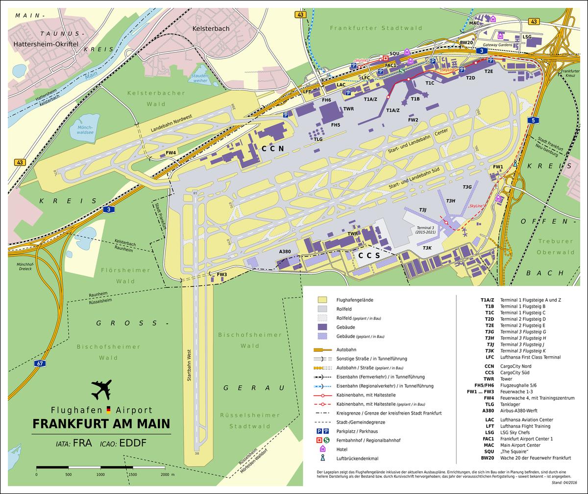 Flughafen Frankfurt Karte