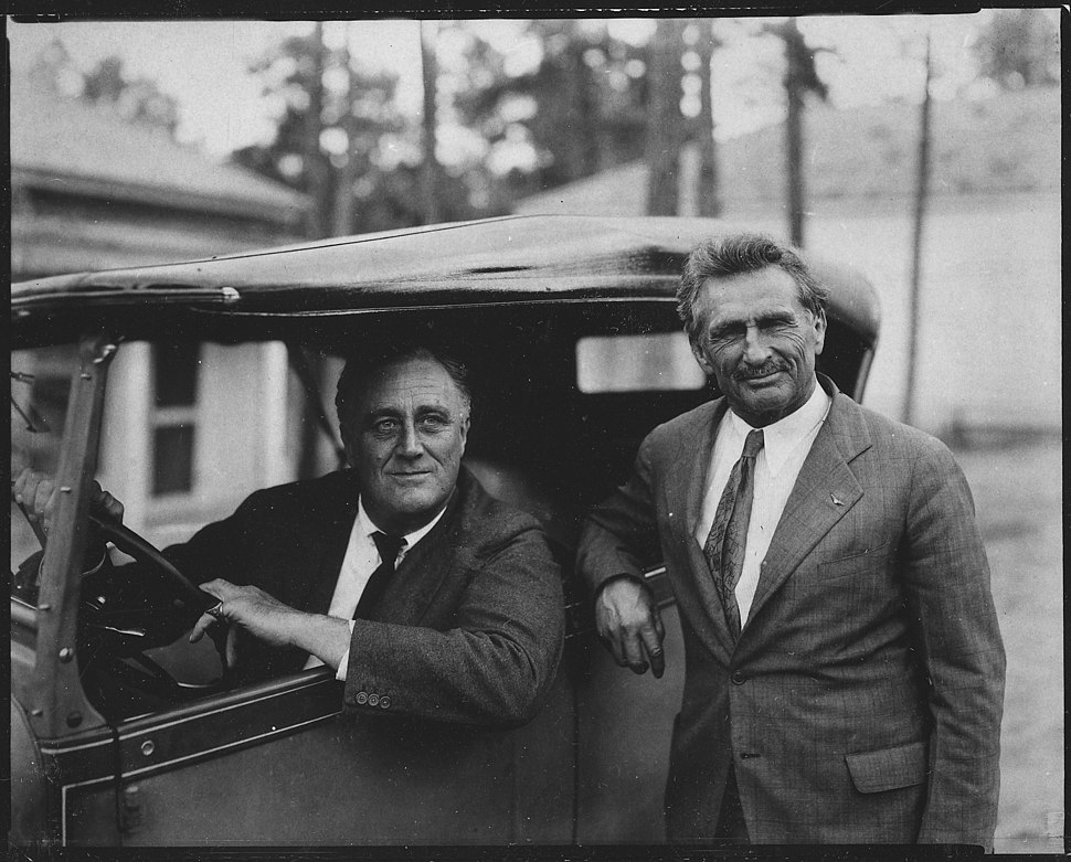 Franklin D. Roosevelt and Bernar MacFadden in Warm Springs, Georgia - NARA - 196721