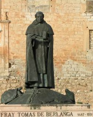 Fray Tomás de Berlanga - Statue of Fray Tomás in Berlanga de Duero