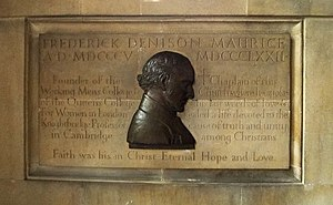 Frederick Denison Maurice - Memorial in St Edward's Church, Cambridge