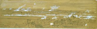 Battle of Fredericksburg - Attack on the Rebel Works, 1862 sketch by Alfred Waud