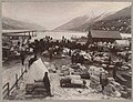 Freight yard at Dyea, ca 1898 (MOHAI 7183).jpg
