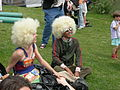Fremont Solstice Parade 2007 - Afro wigs at Gasworks 01.jpg