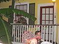 Fringe Fest Olde Town Inn NOLA Balcony Drum.JPG