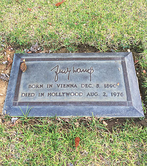 Fritz Lang - Grave of Fritz Lang, at Forest Lawn Hollywood Hills