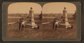 From Seminary Ridge S.E. to Penn. College, Gettysburg, used as a hospital during battle, from Robert N. Dennis collection of stereoscopic views.png