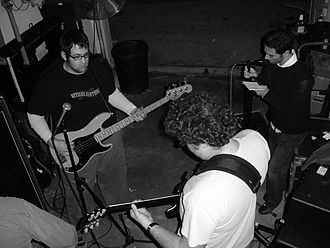 Further Seems Forever - Carrabba practicing with the band for their reunion show in 2005.
