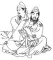 Fujiwara no Muchimaro and Maro.png