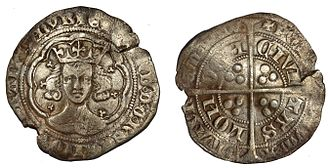 Groat (coin) - Image: GLO 247236 Medieval Groat of Edward III (Find ID 662156)