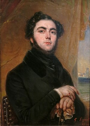 Eugène Sue - Portrait of Eugene Sue (1835) by François Gabriel Lepaulle