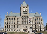 Gage County, Nebraska courthouse from S 4.JPG