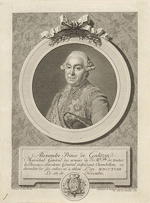 House of Golitsyn - Field-Marshal Alexander M. Golitsyn (1718–1783)