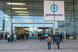 Gamescom - Entrance during Gamescom 2017 in Cologne