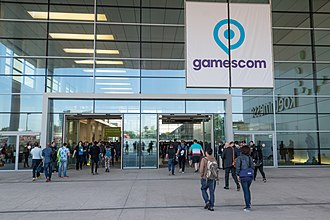 Gamescom - Entrance during Gamescom 2017 in Cologne
