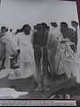 Gandhi at Dandi 6 april 1960 after bath in sea.jpg