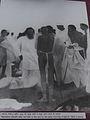 Gandhi at Dandi 6 april 1960 after bath in sea.jpg
