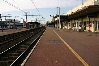 railway station in Melun, France