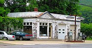 Gas Station at Bridge and Island Streets, Bellows Falls, Vermont