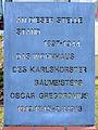Gedenktafel Ehrlichstr 12 (Karl) Oskar Gregorovius.jpg